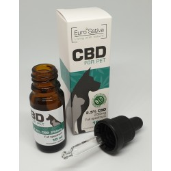 2,5% CBD drops for PET 10ml 2 pcs