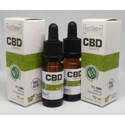 7% CBD drops 10ml 2 pcs