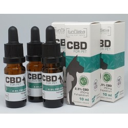 2,5% CBD 3 x drops for PET...