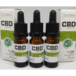 7% CBD drops 10ml 3 pcs