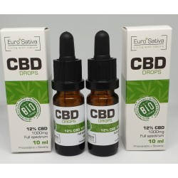 12% CBD drops 10ml 2 pcs