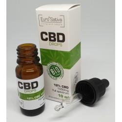 12% CBD drops 10ml 2 pcs
