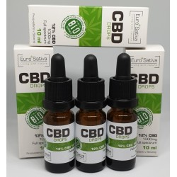 12% CBD drops 3 pcs 10ml