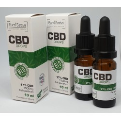 17% CBD drops 10ml 2 pcs