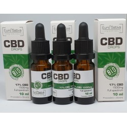 17% CBD drops 10ml 3 pcs