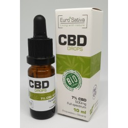 7% CBD Full spectrum kapljice 10ml,  Carmagnola do 25% več CBD